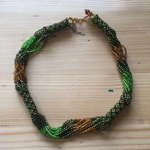 Necklace - handmade beaded